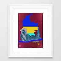 colombia Framed Art Prints featuring Colombia by Kingdom Of Calm - Print On Demand