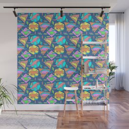 Nineties Dinosaur Pattern Wall Mural