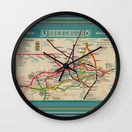 London Undergroud Map 1910 Wall Clock