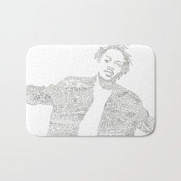 Kendrick Lyric mash Bath Mat