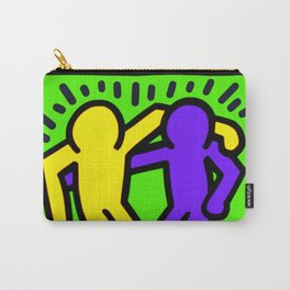 """Keith Haring inspired """"Best Buddies"""" Complementary Color Y&P edition Carry-All Pouch"""