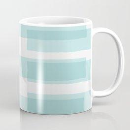 Big Stripes In Turquoise Coffee Mug