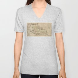 Map of the Caribbean Area (1789) Unisex V-Neck