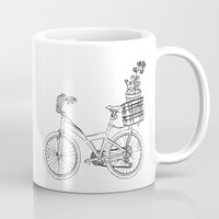 bicycle Mugs featuring Bicycle by Madmi