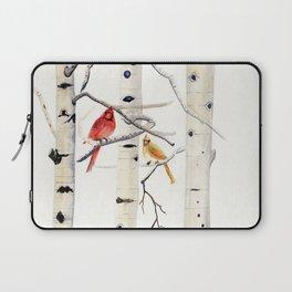 Birch Trees and Cardinal Laptop Sleeve