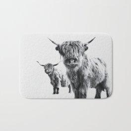 HIGHLAND COW - LULU & SARA Bath Mat