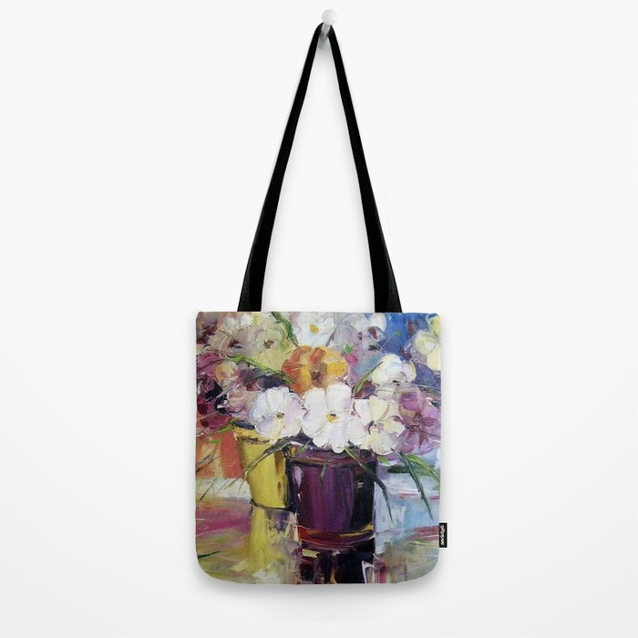 Flowers in a pot Tote Bag