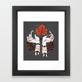 Symbol Hands Framed Art Print