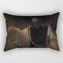 Aristotle with a Bust of H0mer Rectangular Pillow