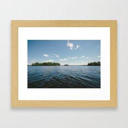 Swedish Lake Framed Art Print