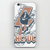 acdc iPhone & iPod Skins featuring acdc angus young by aceofspades81
