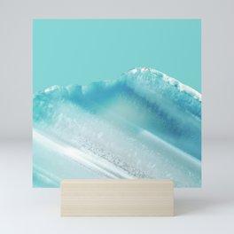 Geode Crystal Turquoise Blue Mini Art Print