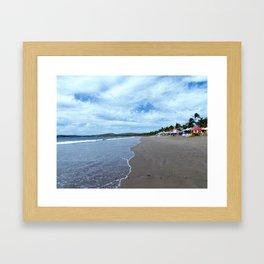 Colorful Beach Framed Art Print