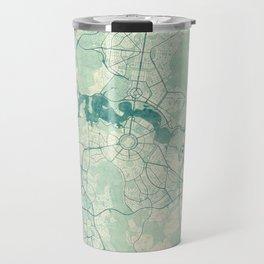 Canberra Map Blue Vintage Travel Mug