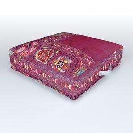 Shakhrisyabz  Southwest Uzbekistan Suzani Embroidery Print Outdoor Floor Cushion