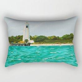Egmont Key Lighthoues Painting Rectangular Pillow