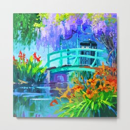Tardis Art And The Bridge Metal Print