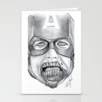 avenger Stationery Cards featuring Zombie Avenger by THINGS I DOODLE