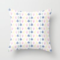 science Throw Pillows featuring SCIENCE by BearandBugle