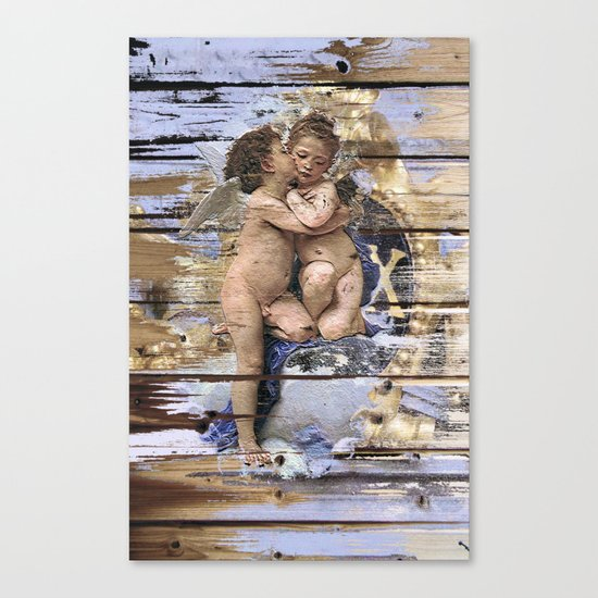 Kissing for Peace Canvas Print