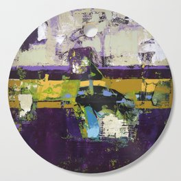 Controversy Prince Deep Purple Abstract Painting Modern Art Cutting Board