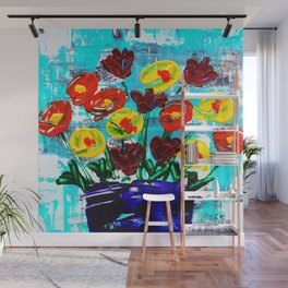 Fanciful Blooms Wall Mural
