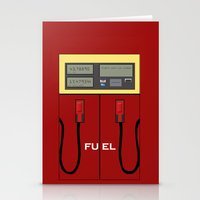 pocket fuel Stationery Cards featuring Fuel Station by Dano77