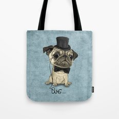 Pug; Gentle Pug (v3) Tote Bag
