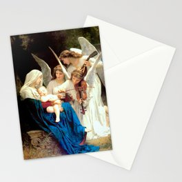 Madonna and Child Jesus and Angels Virgin Mary Art Our Lady Painting Stationery Cards