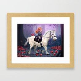 Mushroom Princess Framed Art Print