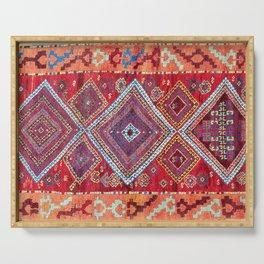 Adiyaman Antique Kurdish Turkish Rug Print Serving Tray