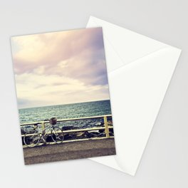 Bicycle on Fence Stationery Cards
