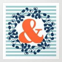 ampersand Art Prints featuring ampersand by ArigigiPixel