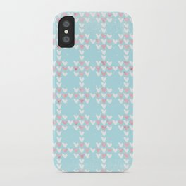 From Hearts Love And Christmas-Cute teal X-Mas Pattern iPhone Case