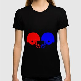 Football helmets Red And Blue T-shirt