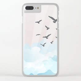 birds at the beach Clear iPhone Case