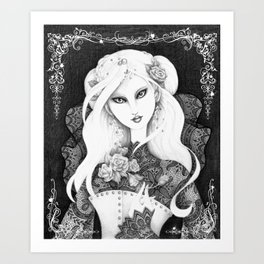 Midnight Rose Art Print