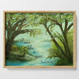 Peace Like a River Serving Tray