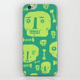 Skulls & Bones I - Green iPhone Skin