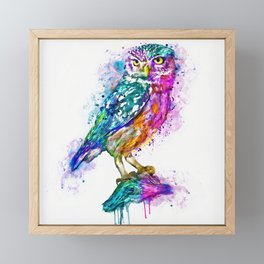 Colorful Owl Framed Mini Art Print