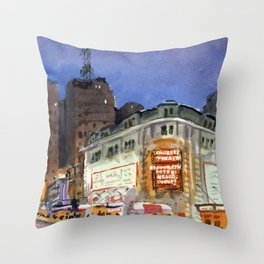 Shubert Theatre Hello Dolly Marquee Throw Pillow