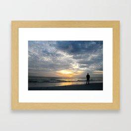 Walk into the sunset.. Framed Art Print