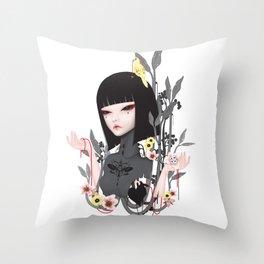 broken doll no.2 Throw Pillow