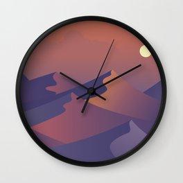 sunset dunes digital art Wall Clock