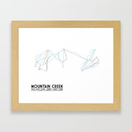 Mountain Creek, NJ - Minimalist Trail Art Framed Art Print