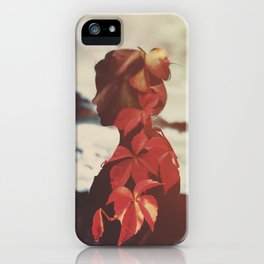 Embracing Autumn iPhone Case