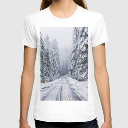 Snowy Oregon Forest Roads T-shirt