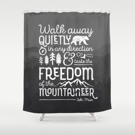 Freedom of the Mountaineer Shower Curtain