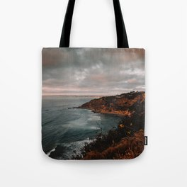 California Coastline Sunset II Tote Bag