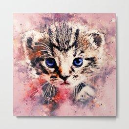 baby cat wsstd Metal Print